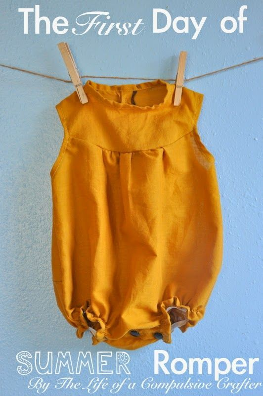 First Day of Summer Romper with FREE 3 - 6 months pattern by The ...