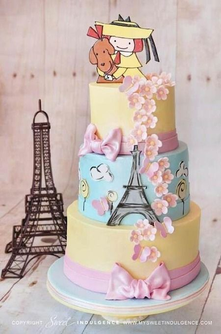 Kids book cakes. Madeleine, Rainbow Fish, Brown Bear, and Peter Rabbit are my faves. Giving Tree too.