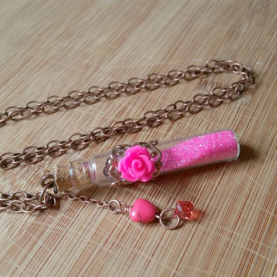 Amortentia love potion glitter vial bottle by WanderlustHeartShop
