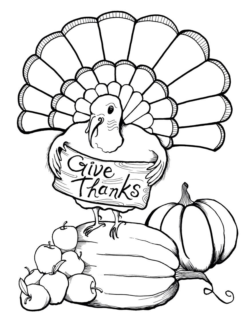 Thanksgiving Coloring Page Thanksgiving Coloring Pages Turkey