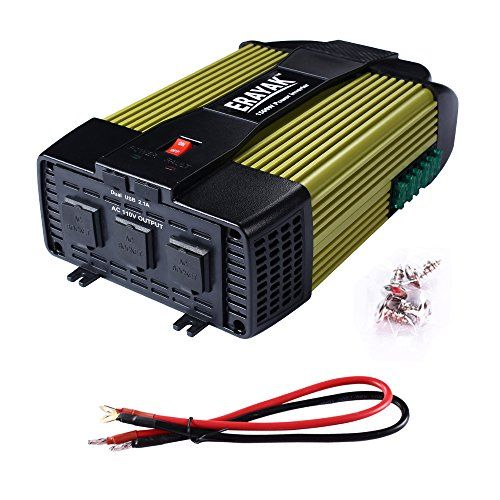 1000W Power Inverter DC 12V to AC 110V Car Adapter with 2.1A 2 USB Charging Port