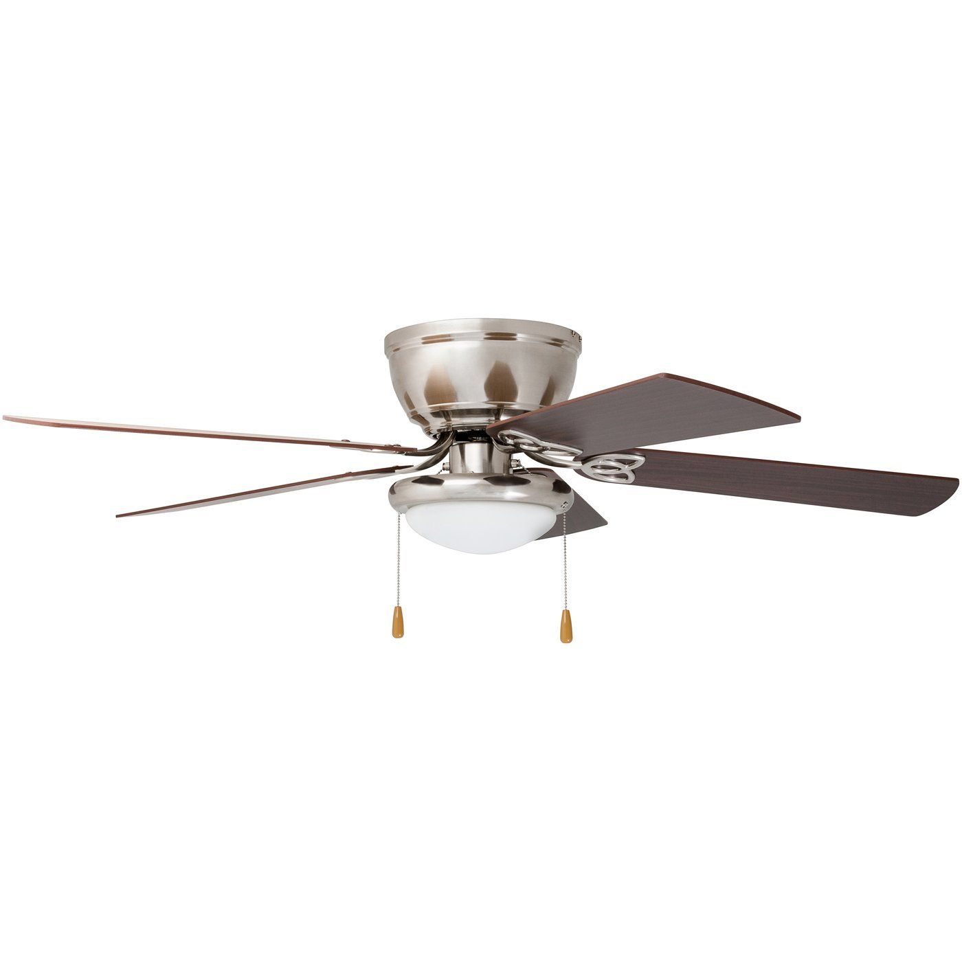 Hunter Bennett 52 In Led Low Profile Matte Black Indoor Ceiling Fan With Globe Light Kit And Handheld Remote Control 53393 The Home Depot Ceiling Fans Without Lights Black Ceiling Fan Ceiling Fan
