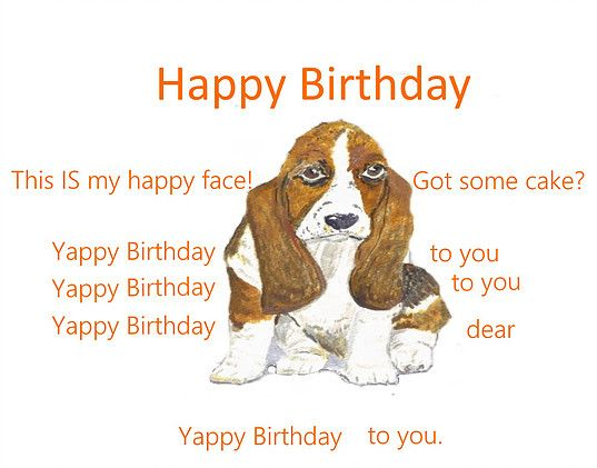 Basset hound customised birthday card add name birthday cards basset hound customised birthday card add name bookmarktalkfo Gallery