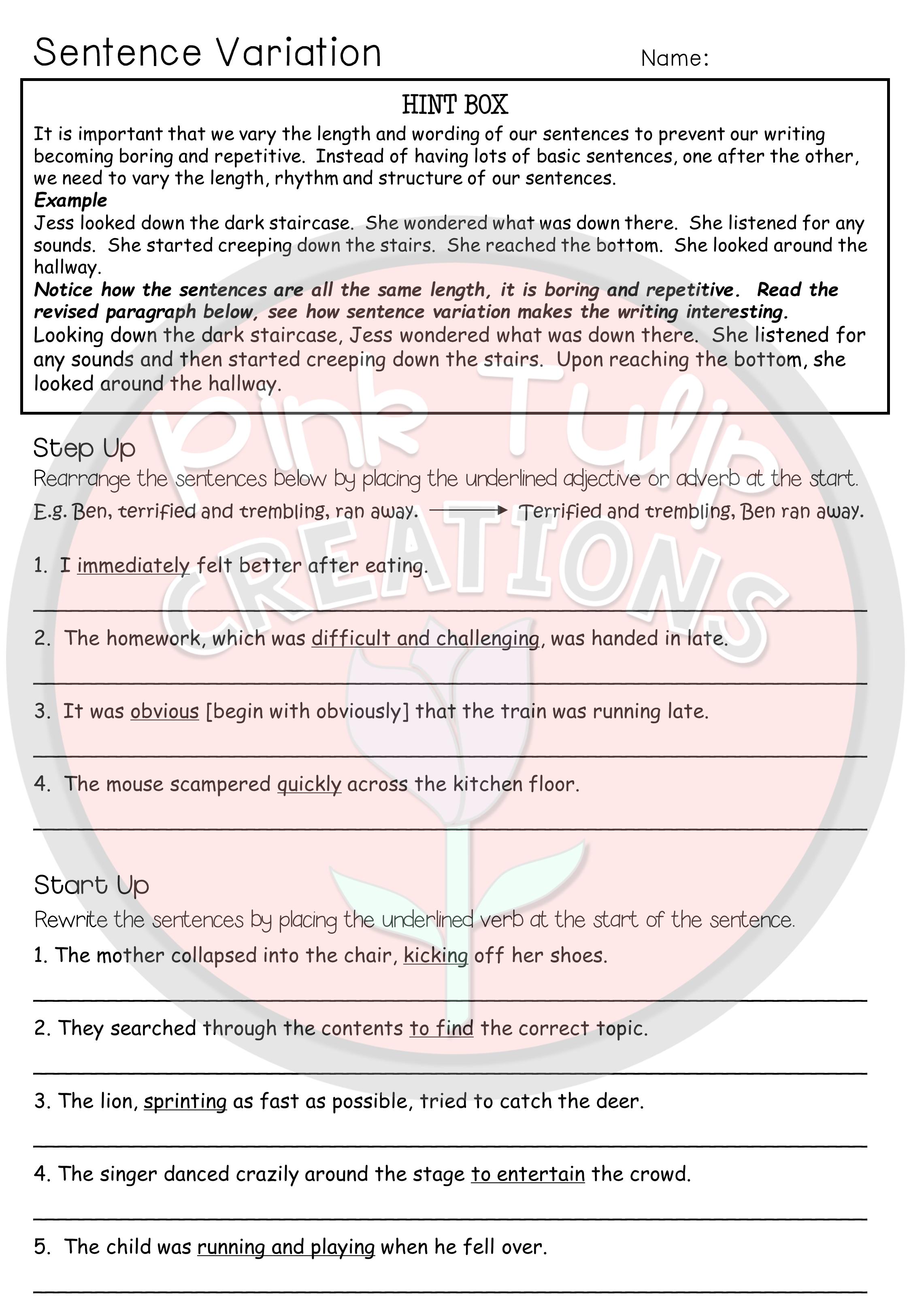 Grammar Booklet Comprises Of 26 Worksheets To Help Improve