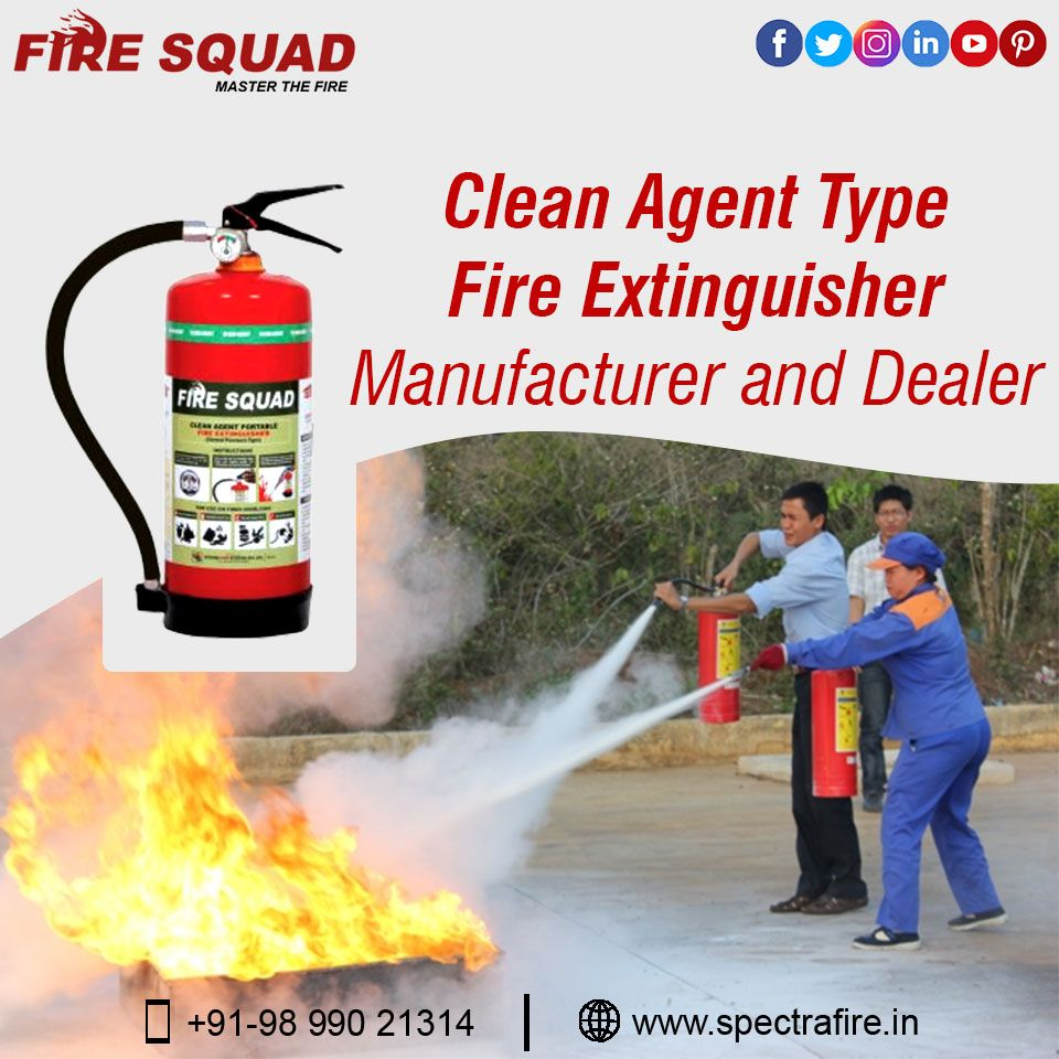 Clean agent extinguishers consist of the halon agents as