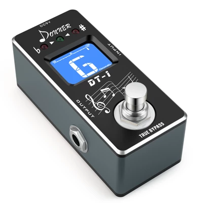 Donner DT-1 Chromatic Guitar pedal tuner True Bypass #guitarpedals