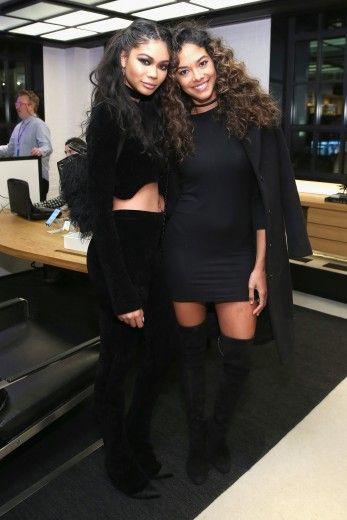 Models Chanel Iman and Heidy De la Rosa