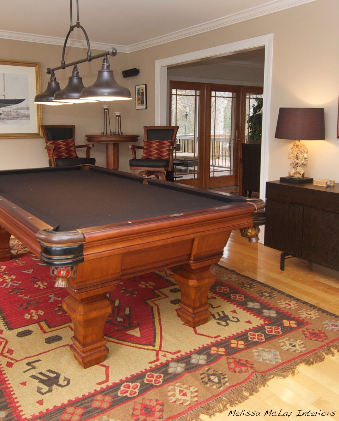 billiard room decor project converting a living room into a billiard room and more. Black Bedroom Furniture Sets. Home Design Ideas