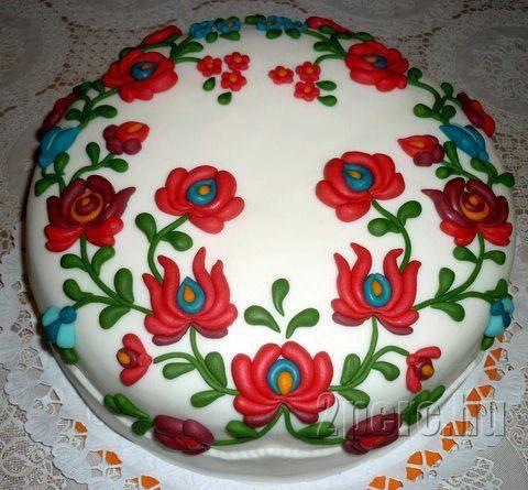 kalocsai mintás torta képek Matyó mintás torta | cakes | Pinterest | Cake and Foods kalocsai mintás torta képek