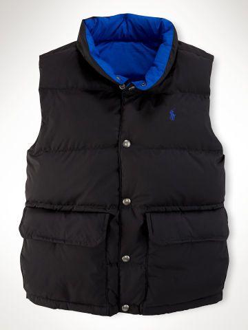 Reversible Elmwood Vest - Boys 8-20 Outerwear & Jackets - RalphLauren.com