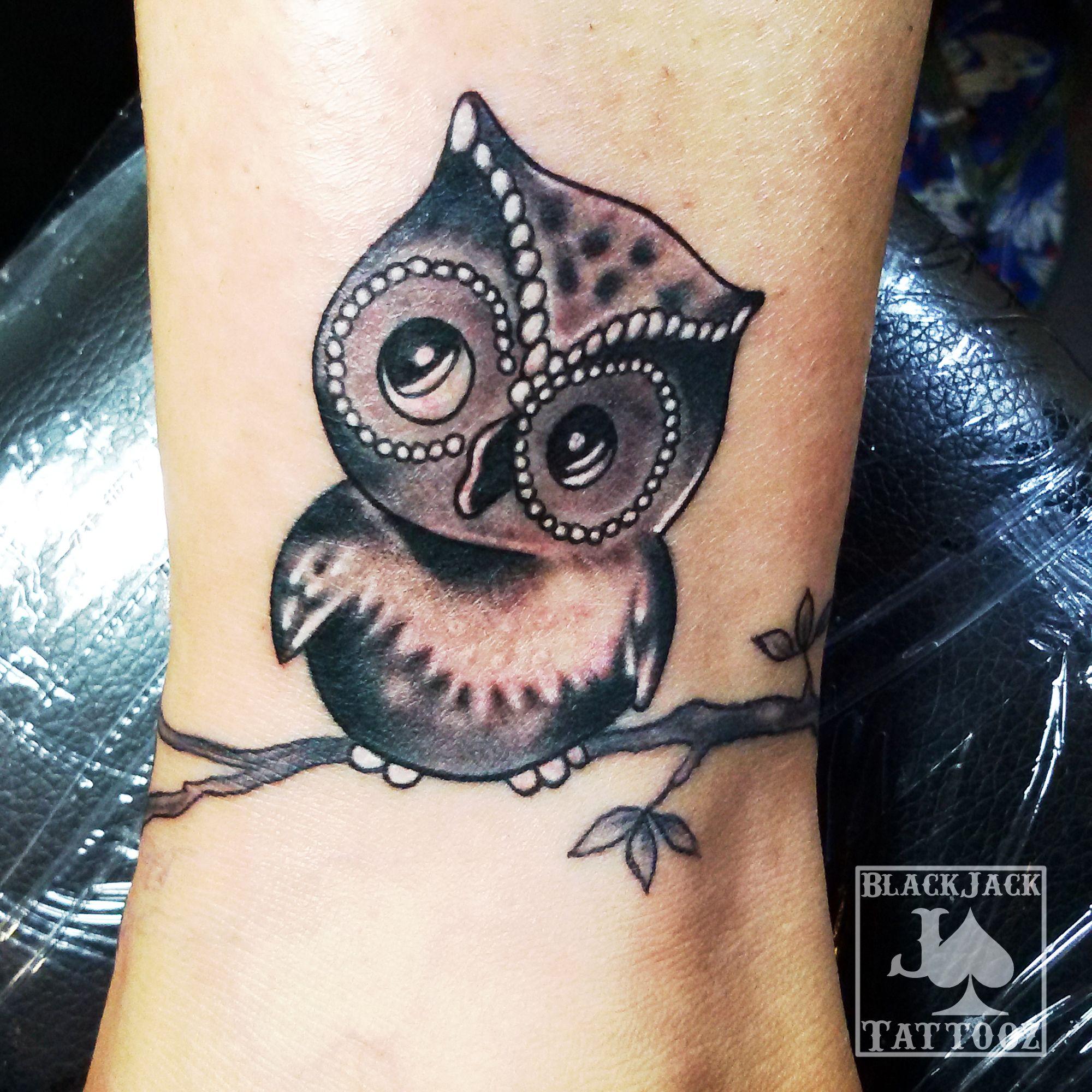New Work Of Small Black And Gray Owl Tattoo Blackandgraytattoo Owltattoo Smalltattoo Theblackjacktattoo Tatt Cute Owl Tattoo Cover Up Tattoos Cover Tattoo