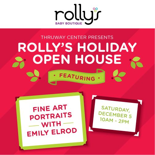 Emily Elrod is back at Rolly's to take beautiful b&w photos of your little ones! Stop by at our Annual Holiday Open House this Saturday!