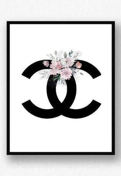 Mur de Coco Chanel imprimable, impression de Coco Chanel, décor de chambre Girly, décor abordable, …