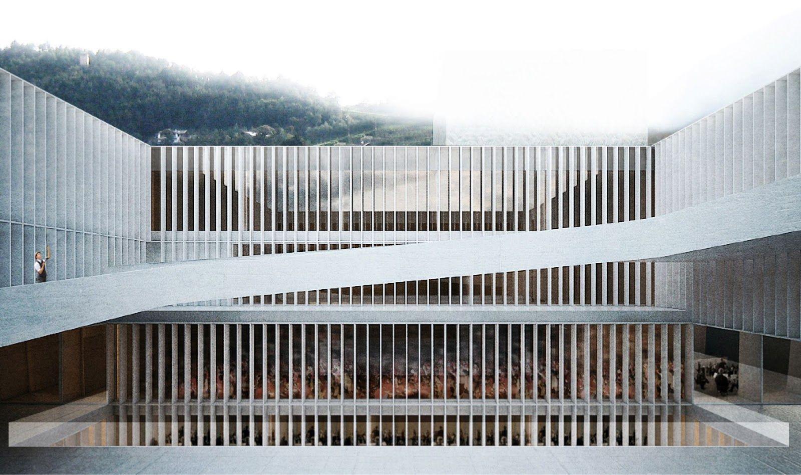 Aires mateus gsmm school of music bressanone a r c h for Architettura moderna case