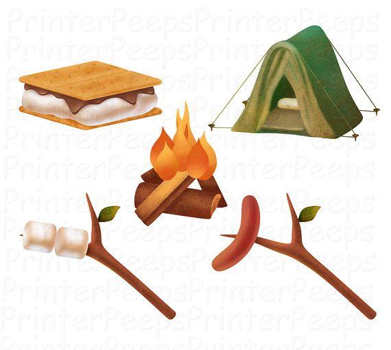SALE - Camping Trip Clip Art - Girls Clip Art - Camping Clipart ...