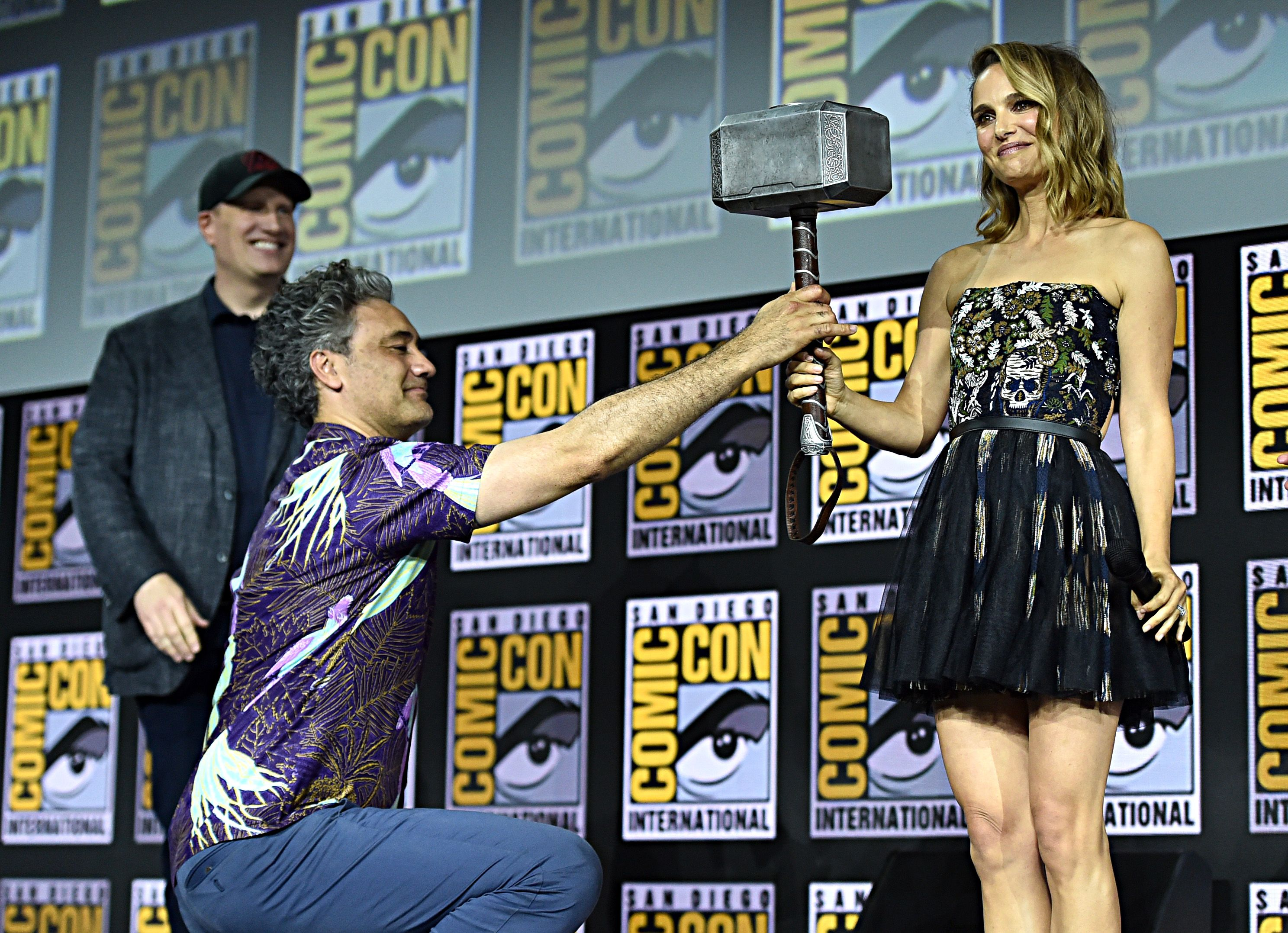 The Best Moments From Marvel Studios Hall H Panel At Sdcc 2019 Marvel Studios Female Thor Natalie Portman