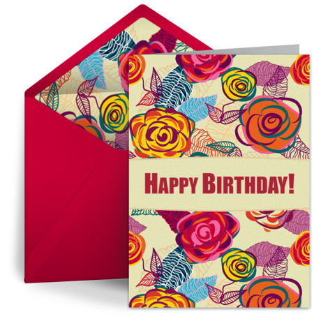 free happy birthday digital greeting card from punchbowl - Digital Greeting Cards