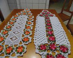 Caminhos De Mesa Flor Catavento Caminho De Mesa De Croche
