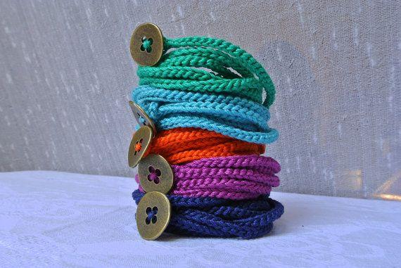 Crochet wrap bracelet or necklace 2 in 1 by Ilfilochiaro