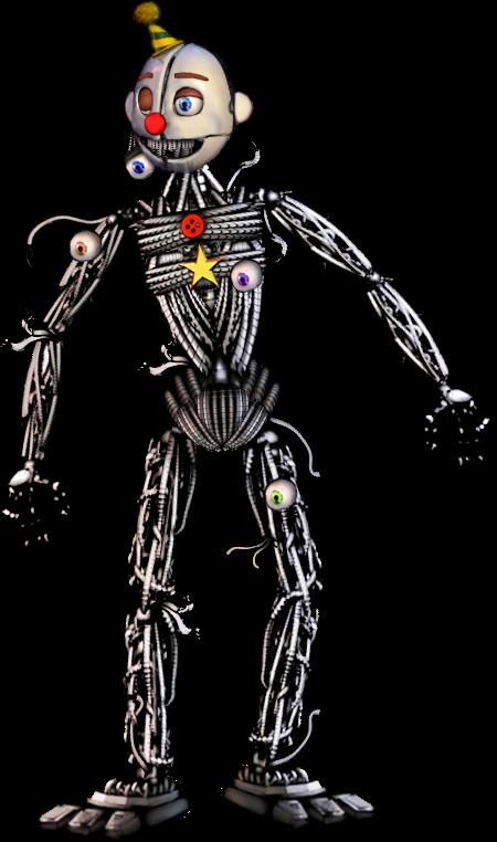 Scrap Baby Endoskeleton : scrap, endoskeleton, Characters, Fnaf,, Characters,, Drawings
