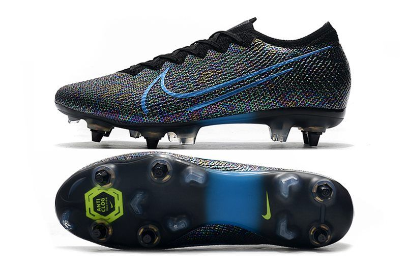 Nike Mercurial Vapor Xiii Elite Sg Pro Ac Black Blue In 2020 Sneakers Fashion Superfly Soccer Cleats Soccer Cleats Nike