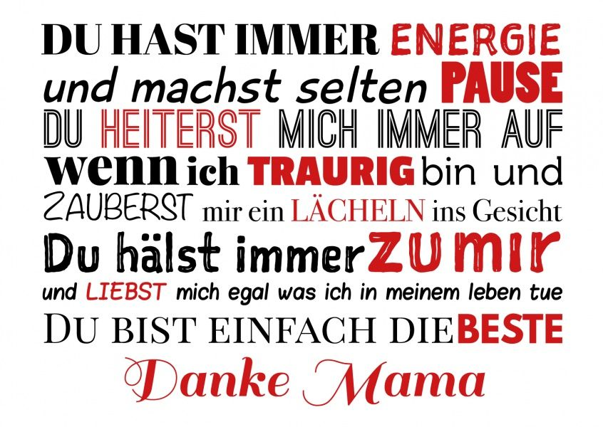 Danke Mama Mama Sprüche Muttertag Sprüche Und Danke Mama