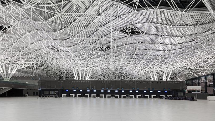 The Latest Passenger Terminal At Franjo Tudman International Airport Zagreb Zagreb Airport City Parametric Architecture