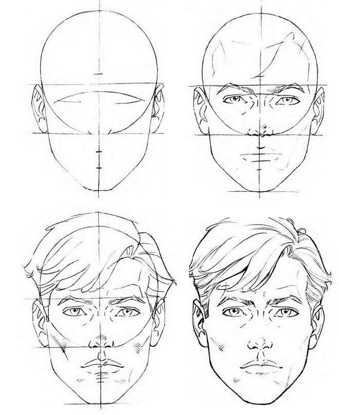 How To Draw A Face 25 Step By Step Drawings And Video Tutorials Read Full Article Http Webneel Com H Face Drawing Drawing Tutorial Face Portrait Drawing