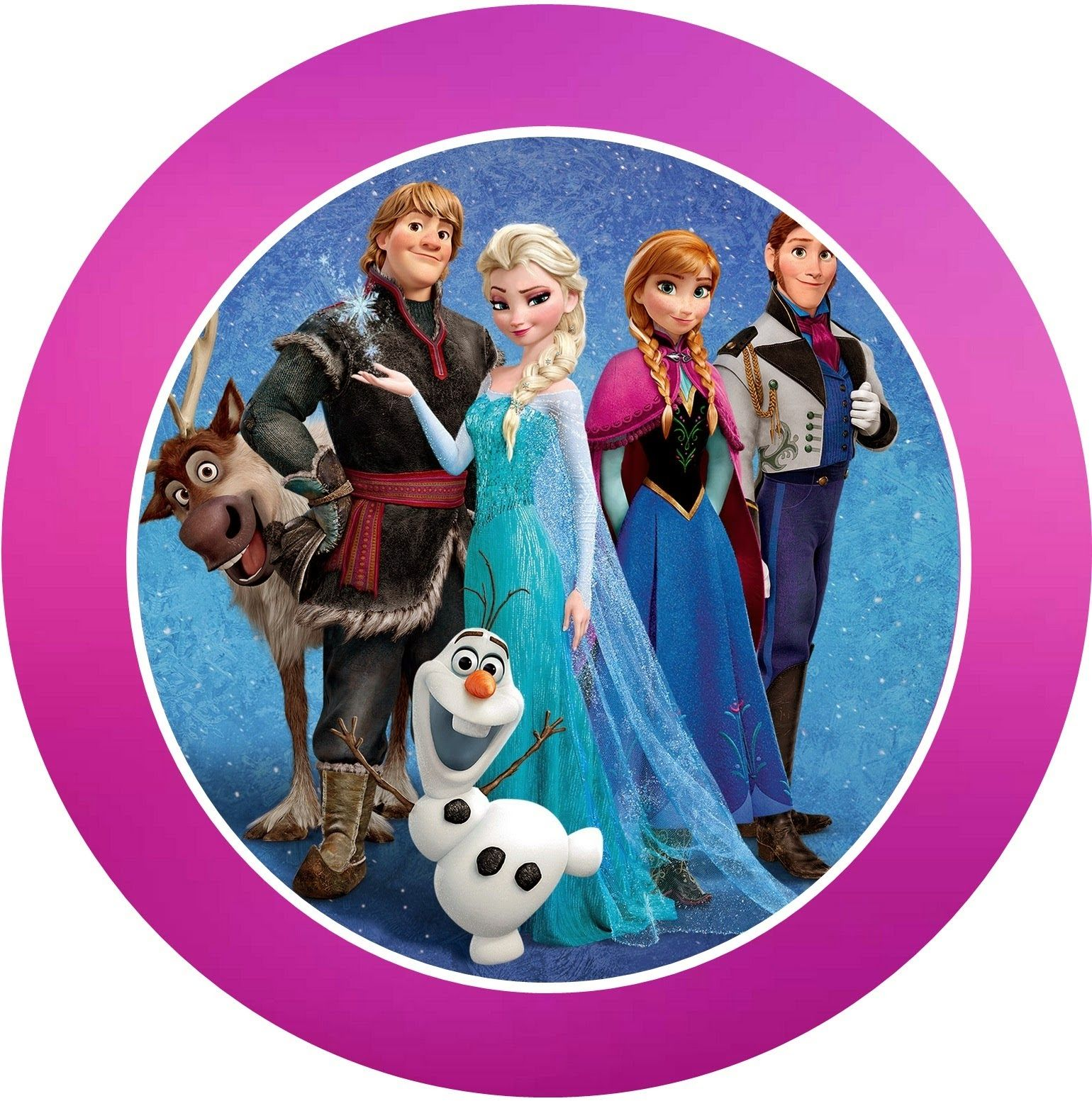 Mini sticker Elsa as a greeting card