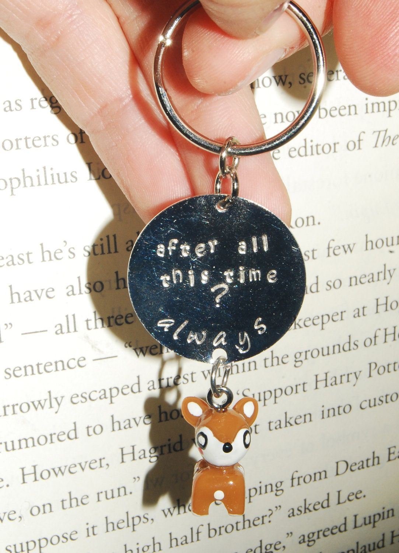 Harry Potter Severus Snape Chibi Deer Key Chain.  WANT!!!!!!!!