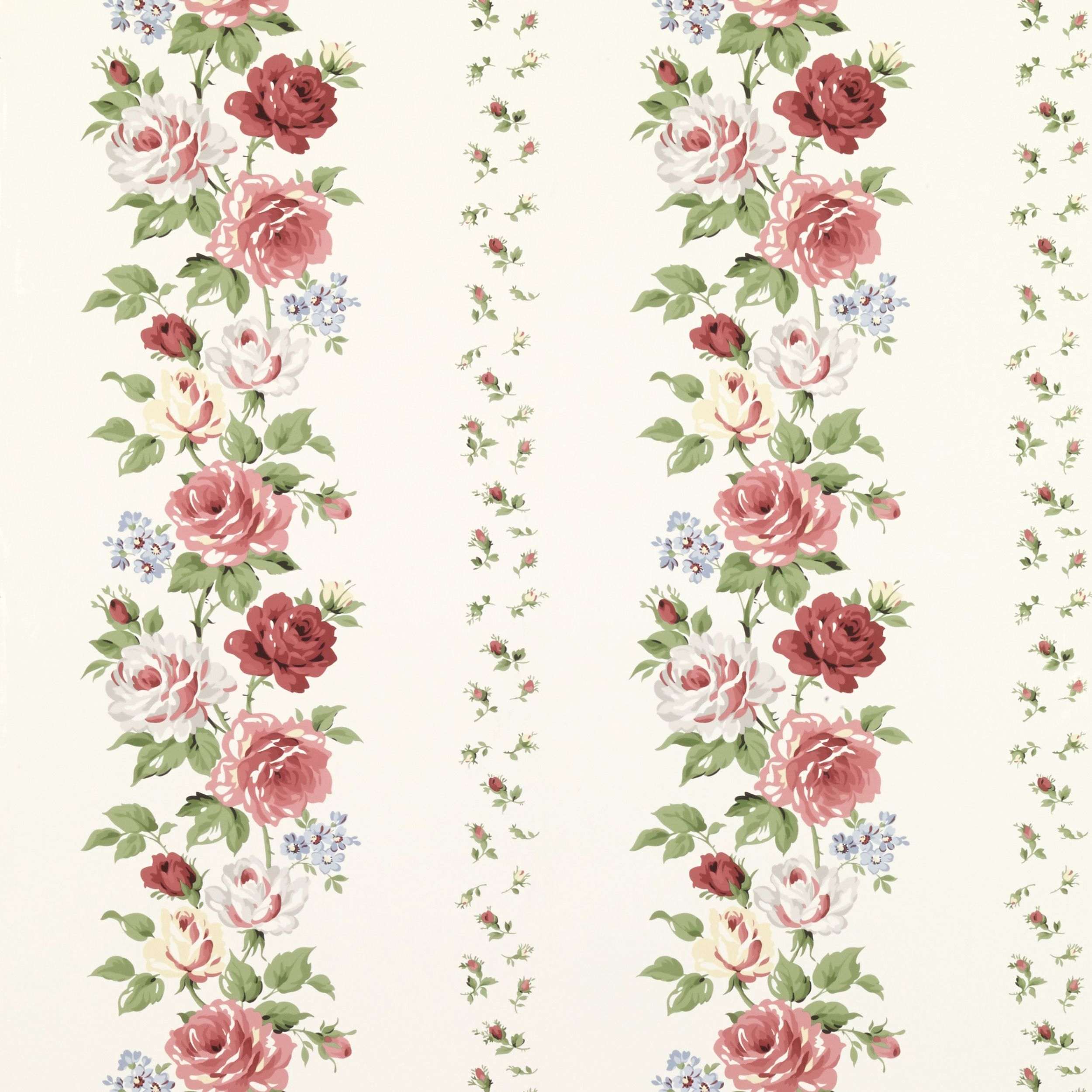 Clarissa Multi/Ivory Floral Wallpaper at Laura Ashley
