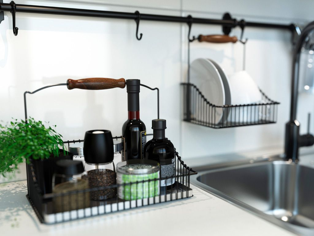 IKEA Fintorp.... definitely going to try this in the laundry room ...