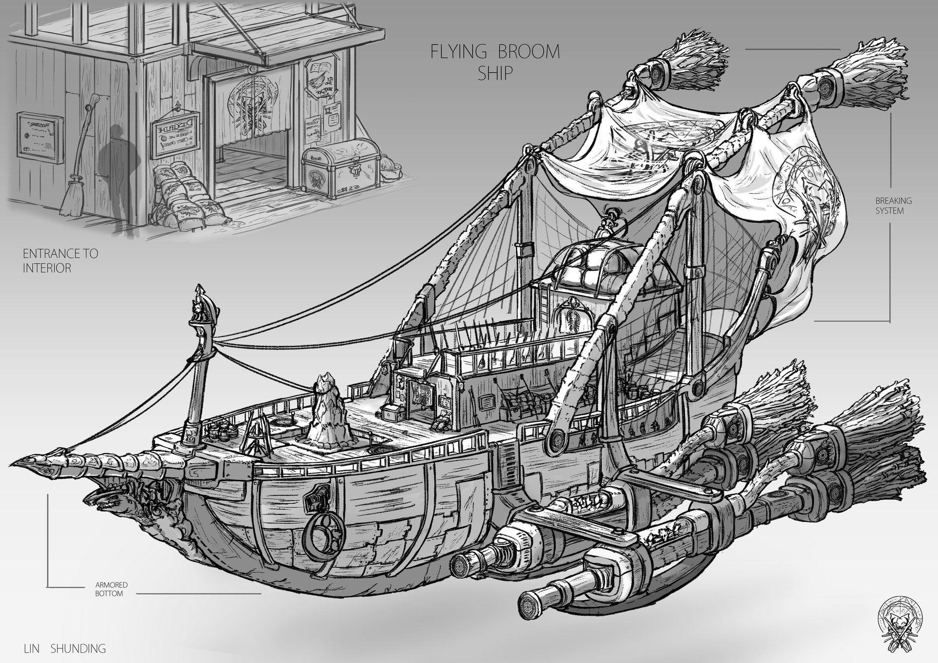 Fantasy Concept Art Ship