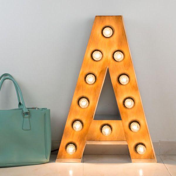 Diy como hacer letras luminosas de madera y hierro - Letras de hierro ...
