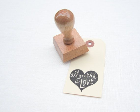 All You Need Is Love Wedding Invitations: All You Need Is Love Rubber Stamp For DIY Wedding And Card