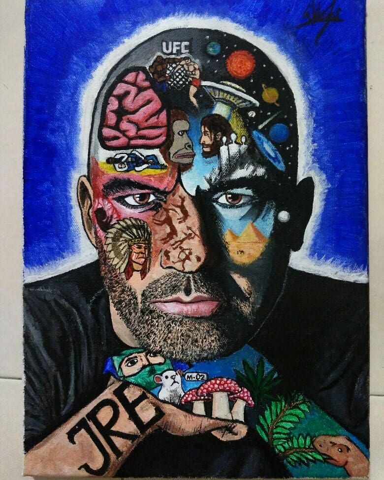 The Joe Rogan Experience Artwork Done With Acrylic This Artwork Is Dedicated To Joerogan If You Re Wonderi Joe Rogan Experience Psychedelic Art Joe Rogan