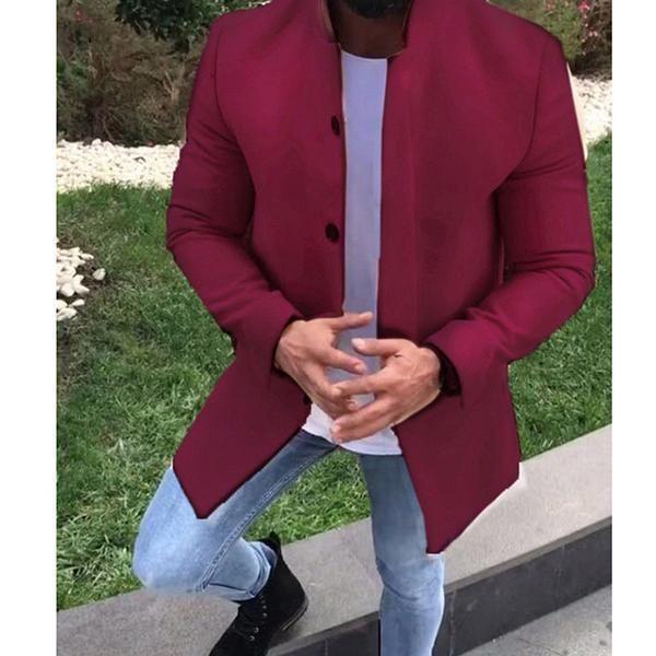 Fashion Casual Long Slim Jacket Coat My Shopping List Gym