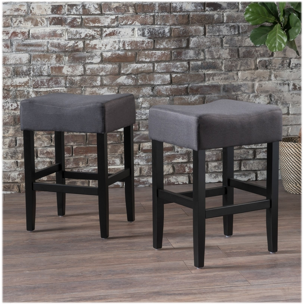 Noble House Perryton Backless Counter Stools Set Of 2 Dark