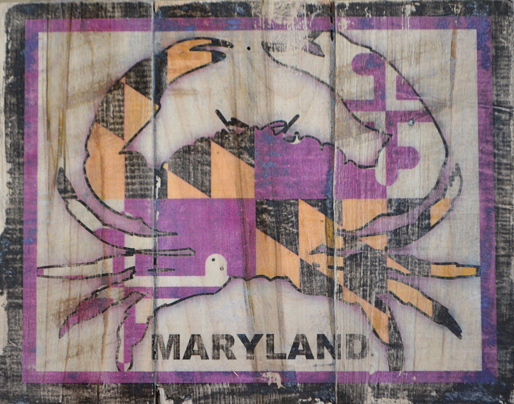 Purple Ravens Maryland Flag Crab Wall Sign -- Awesome ...