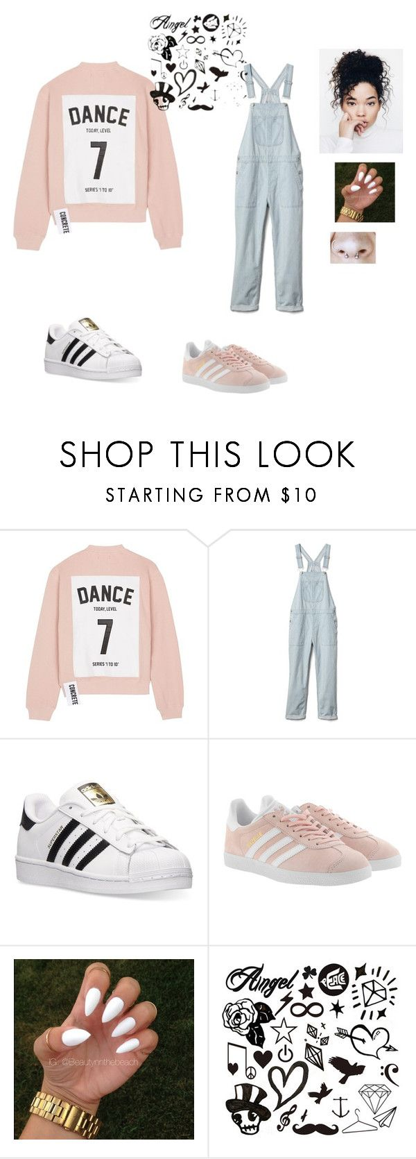 """""""Aesthetic ⬇️"""" by deedee364 ❤ liked on Polyvore featuring Studio Concrete, Gap, adidas and adidas Originals"""