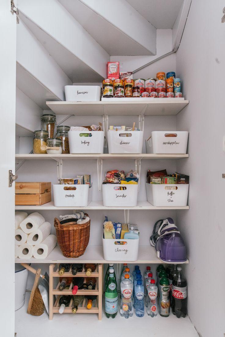 Tipps zum Räumen Ihrer Speisekammer – Dekorationsideen – #abstellkammerideen #D…