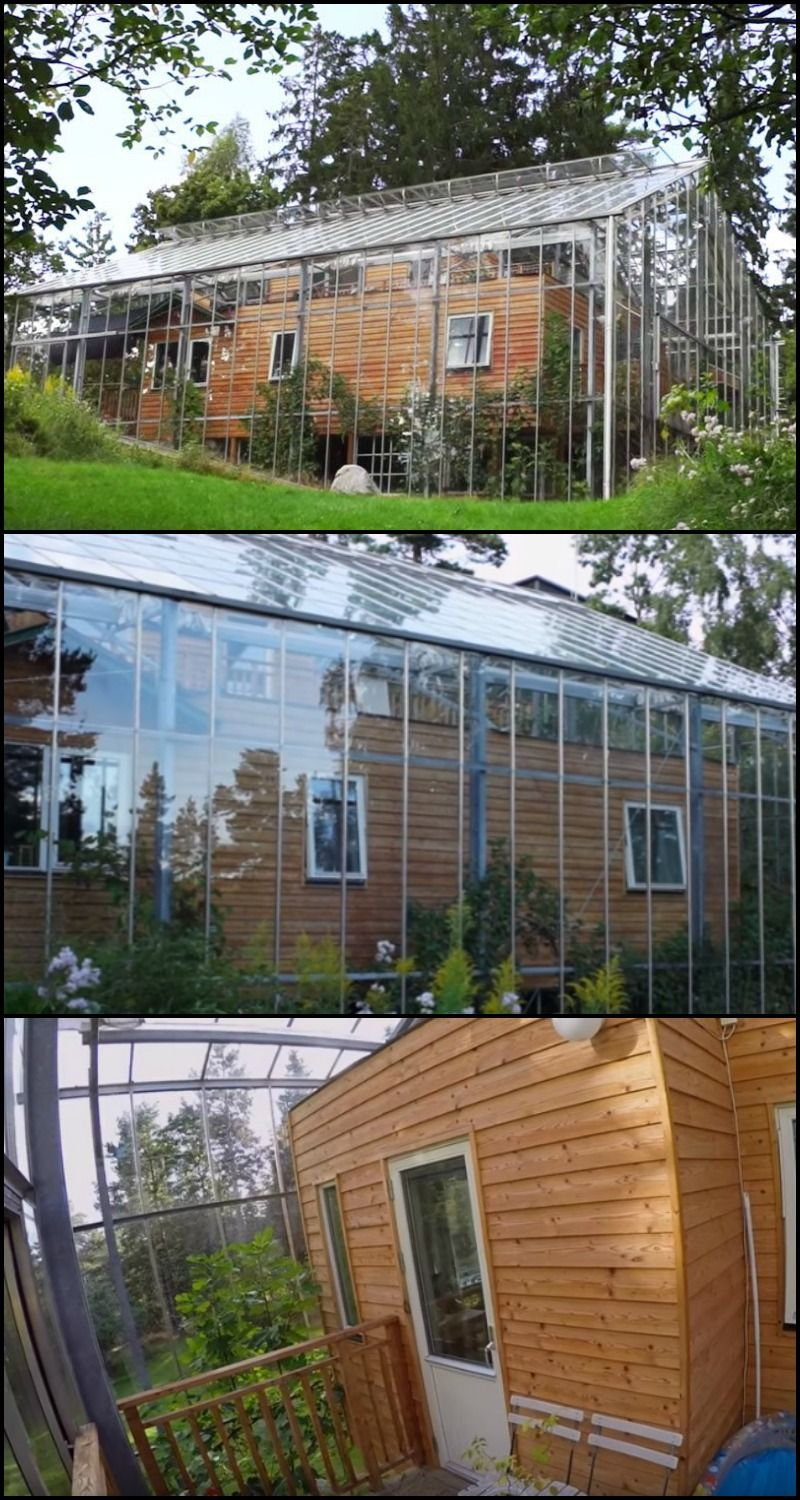 family wraps home in greenhouse to warm it naturally if a greenhouse protects plants from the. Black Bedroom Furniture Sets. Home Design Ideas