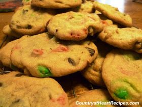 Country at Heart Recipes: M&M Cookies