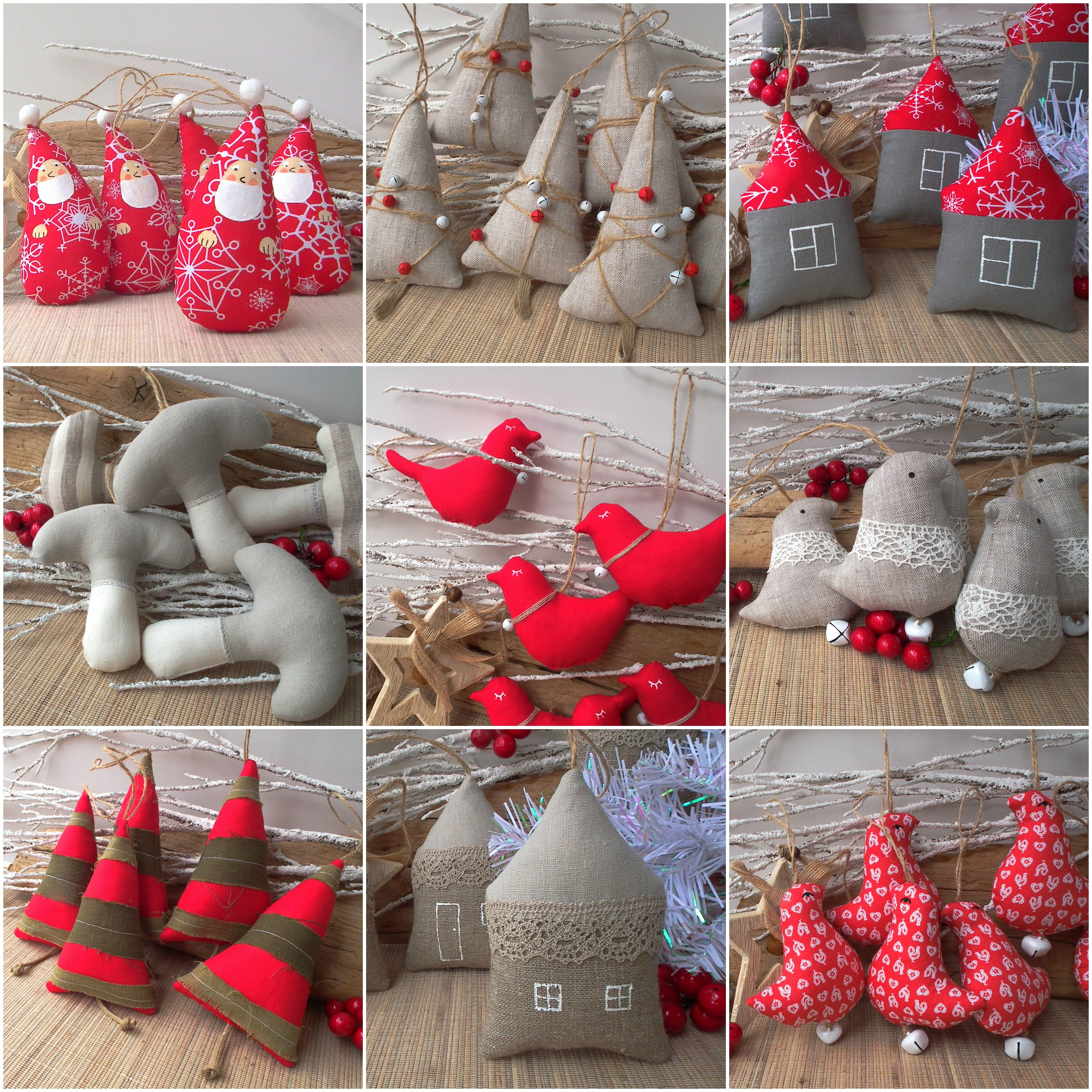 Rustic Christmas Tree Ornament By Cherrygardendolls Rustic Red Burlap Diy Christmas Tree Ornaments Pinterest Christmas Crafts Fabric Christmas Ornaments