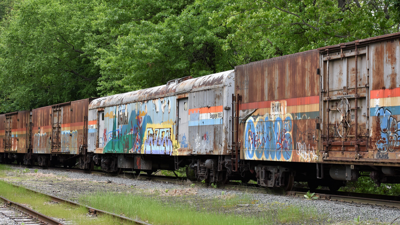 Rusted Amtrak Baggage Cars In Kenvil Nj May 26 2017
