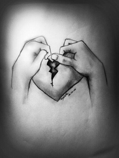 Selbsthass? Liebeskummer? Zerbrochen?  Kohlezeichnung - 16.02.15 - #Kohlezeichnung #Liebeskummer #Selbsthass #Zerbrochen