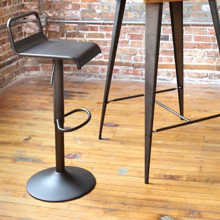 Emery Adjustable Swivel Barstool Farmhouse Dining On Joss Main Modern Bar Stools Swivel Bar Stools Bar Stools