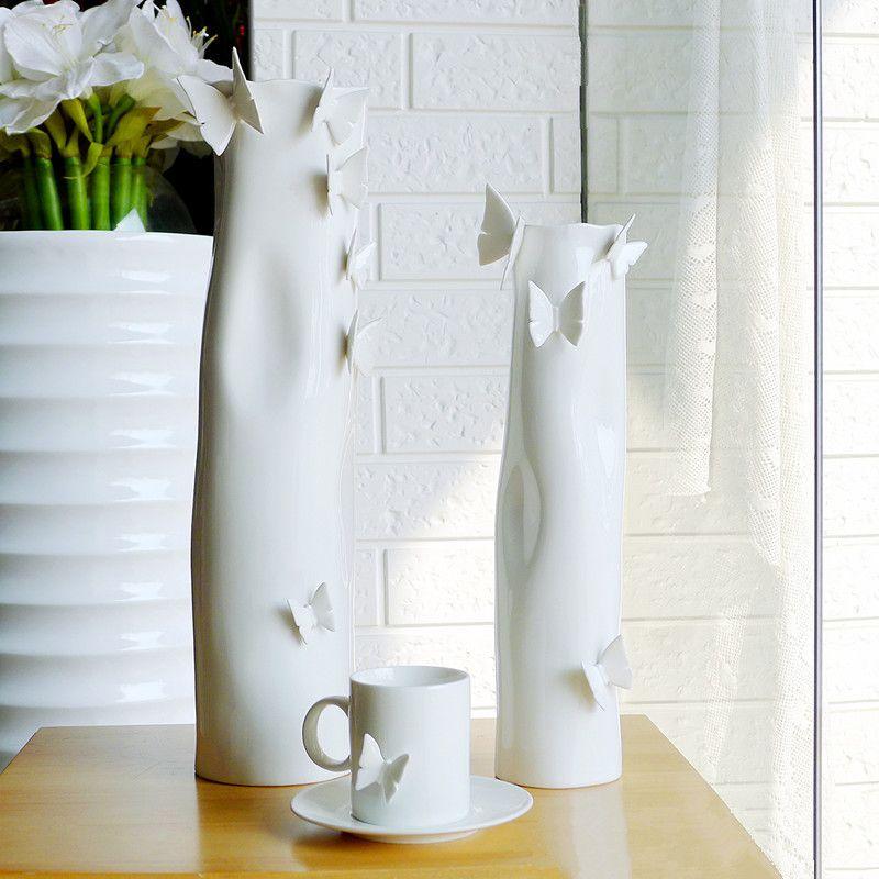 interesting white ceramic vases. Butterfly High grade White Ceramic Vases  floor vase large bud tall vases decorative glass ceramic