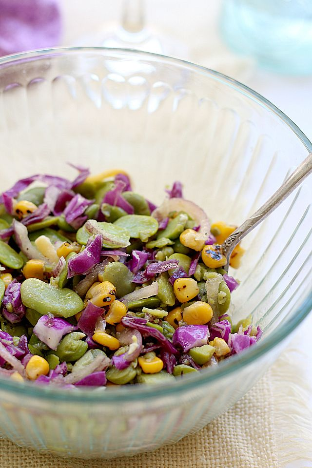Fava Bean Salad Recipe In Honey Vinaigrette Delightful Mom Food Recipe Bean Salad Recipes Fava Beans Salad Fava Beans