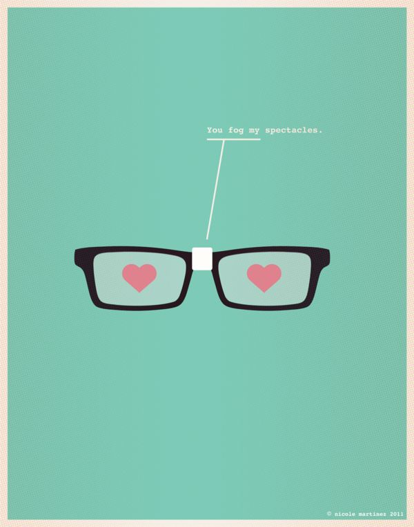 You Fog My Spectacles Nerd Pick Up Lines Love Posters Nerd Love Love Illustration